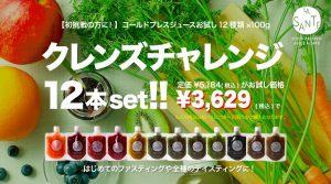 【初挑戦に!】コールドプレスジュース100g12種類×各1本