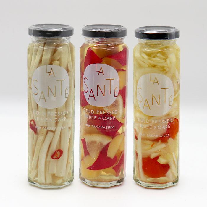 ラサンテで人気の3味のピクルスです